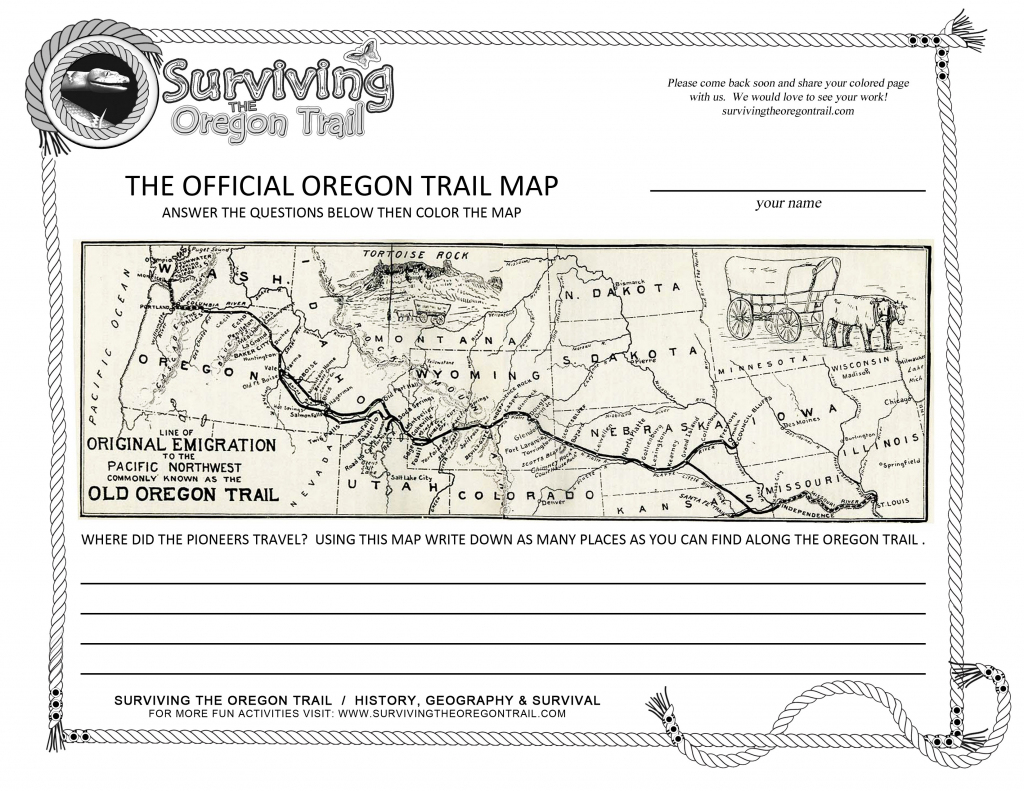 This is a photo of Mesmerizing Oregon Trail Map Printable