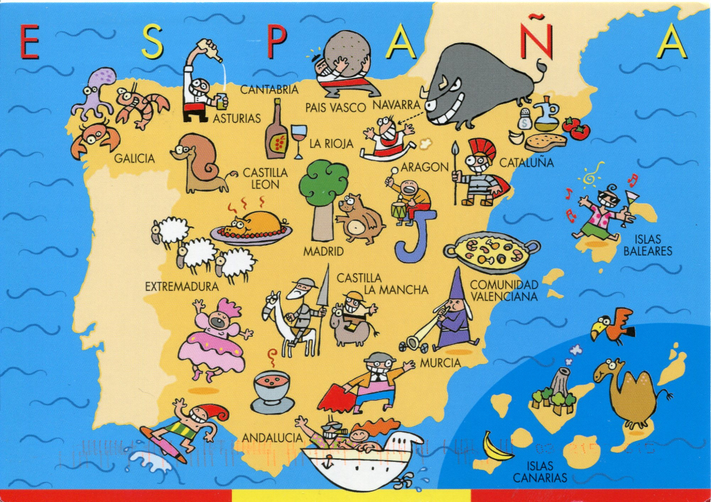 The Best Map Of Spain - Spain Traveller within Printable Map Of Spain Pdf