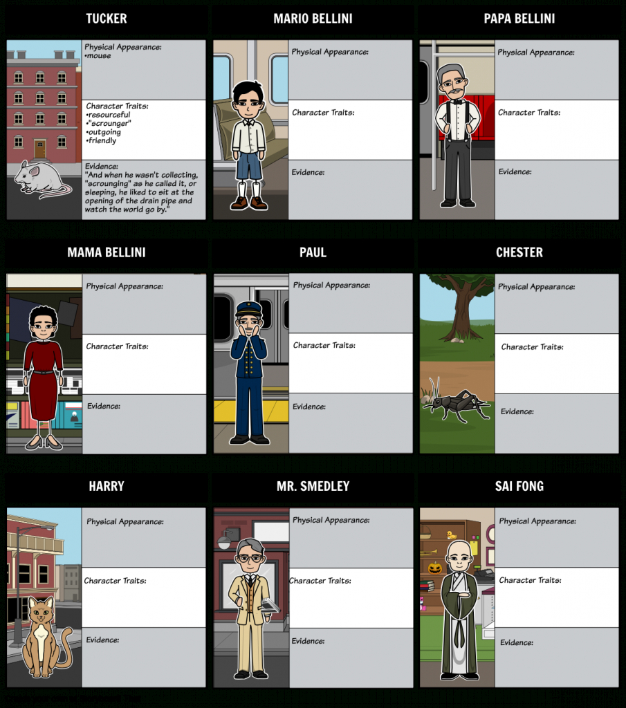 The Cricket In Times Square - Character Map Storyboard pertaining to Printable Map Of Times Square