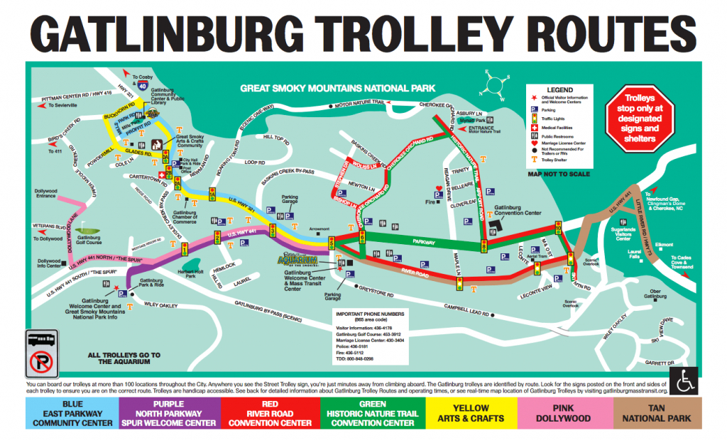 The Gatlinburg And Pigeon Forge Trolley - Dw Parks And More regarding Printable Map Of Pigeon Forge Tn
