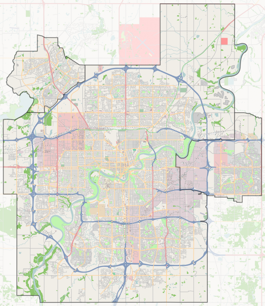 The Grange, Edmonton - Wikipedia throughout Printable Map Of Edmonton