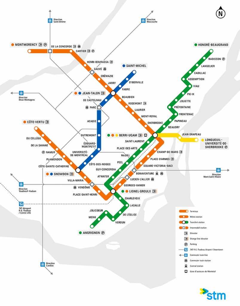 The Montreal Metro Map - News Construction And Development Pose intended for Montreal Metro Map Printable
