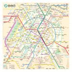 The New Paris Metro Map Within Printable Paris Metro Map