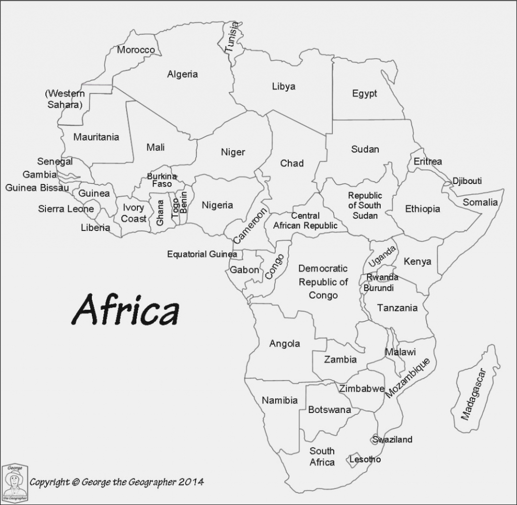 The Worst Advices We've Heard For | Label Maker Ideas regarding Printable Map Of Africa With Countries Labeled