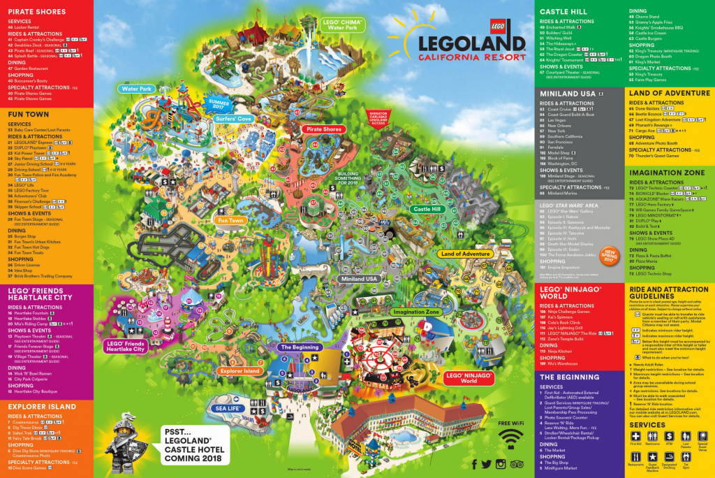Theme Park Brochures Legoland California Resort - Theme Park Brochures for Legoland California Printable Map
