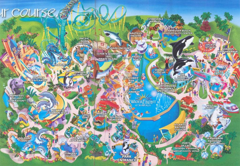 Theme Park Brochures Sea World Orlando - Theme Park Brochures pertaining to Seaworld Orlando Map Printable