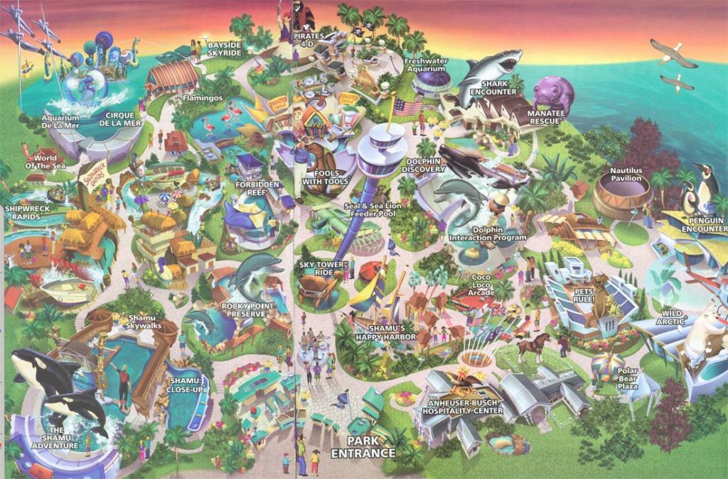 Theme Park Brochures Sea World San Diego - Theme Park Brochures regarding Printable Sea World San Diego Map