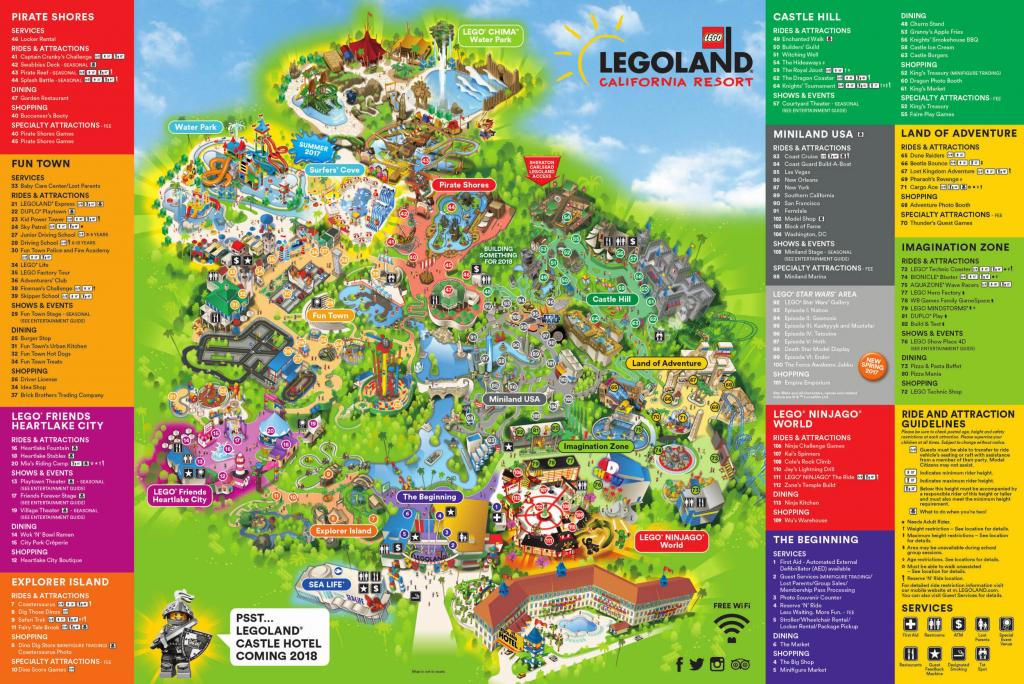Theme Park Brochures Six Flags Great America In California S Map with Six Flags Great America Printable Park Map