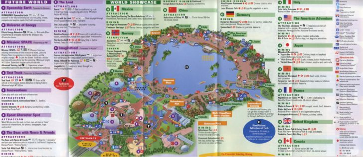 Epcot Park Map Printable