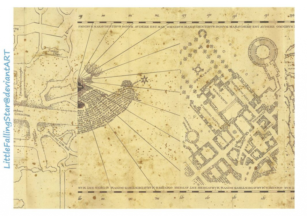 This Is A Copy Of The Marauders Map, 36 Scans Stitched Together In within Marauder's Map Replica Printable