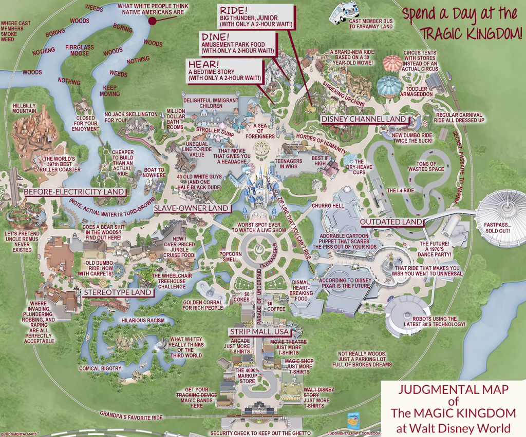This 'judgmental Map' Of Magic Kingdom Is Pretty Accurate | Blogs with Printable Maps Of Disney World Parks