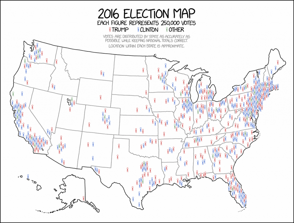This Might Be The Best Map Of The 2016 Election You Ever See - Vox regarding Blank Electoral College Map 2016 Printable