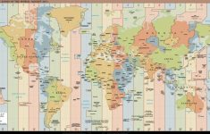 World Time Zone Map Printable Free