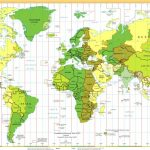 Time Zones Of The World Map (Large Version) Regarding Printable World Time Zone Map