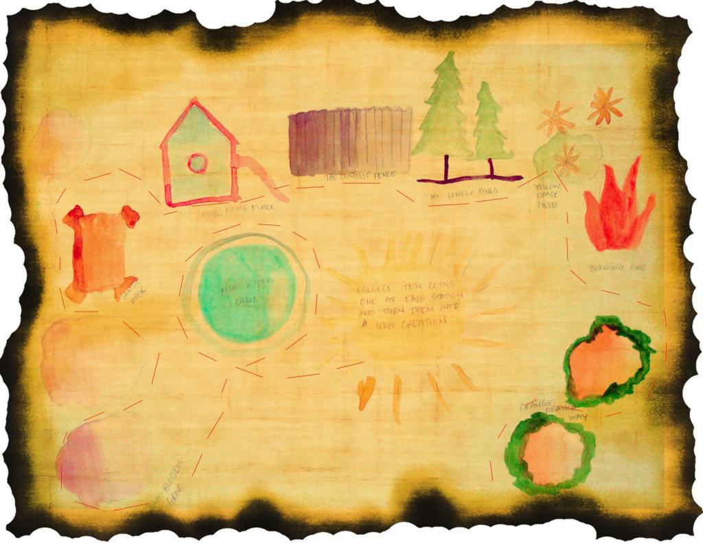Toddler Treasure Map And Scavenger Hunt Printables - Amy's Art Table regarding Printable Scavenger Hunt Map
