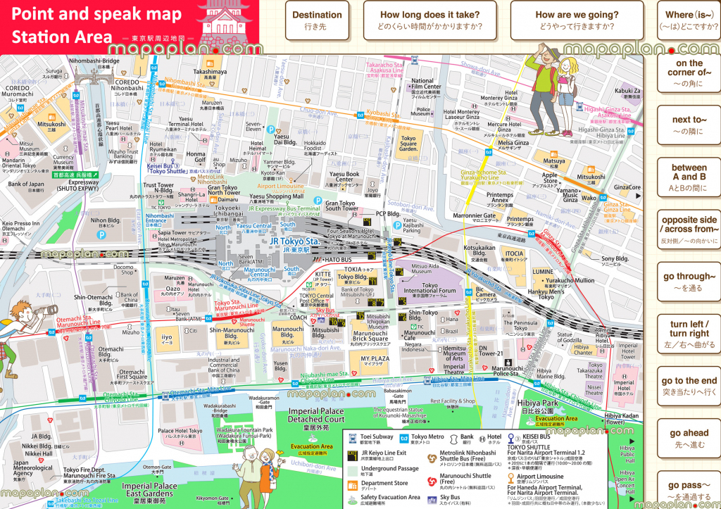 Tokyo Maps - Top Tourist Attractions - Free, Printable City Street in Printable Map Of Tokyo