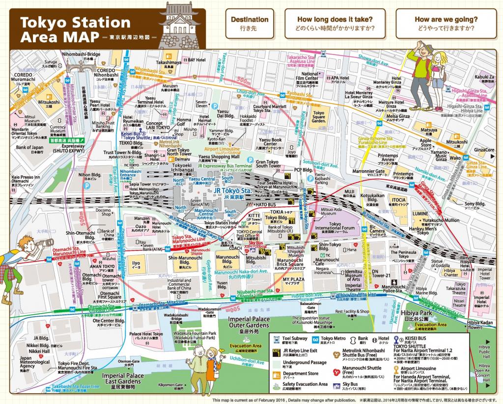 Tokyo Station Area Map regarding Printable Map Of Tokyo