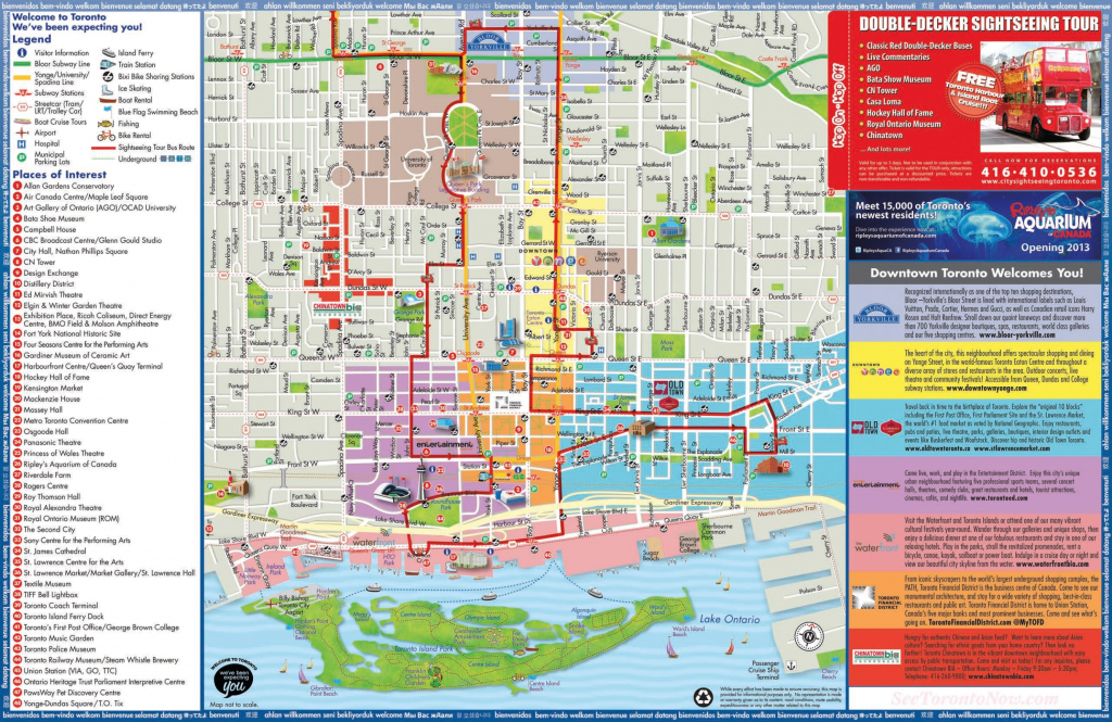 Toronto Maps | Canada | Maps Of Toronto throughout Printable Map Of Toronto