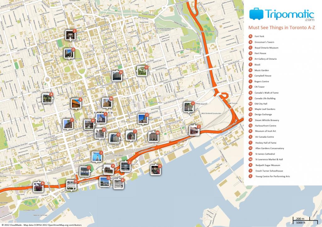 Toronto Printable Tourist Map | Free Tourist Maps ✈ | Tourist Map inside Printable Map Of Toronto