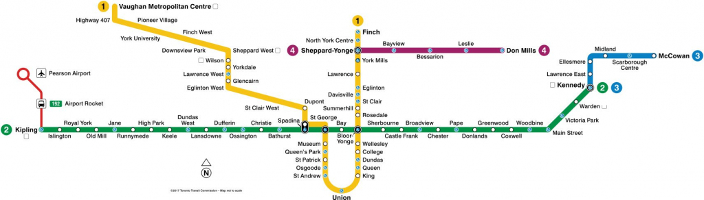 Toronto Subway Map 2019 | Toronto-Info within Toronto Subway Map Printable