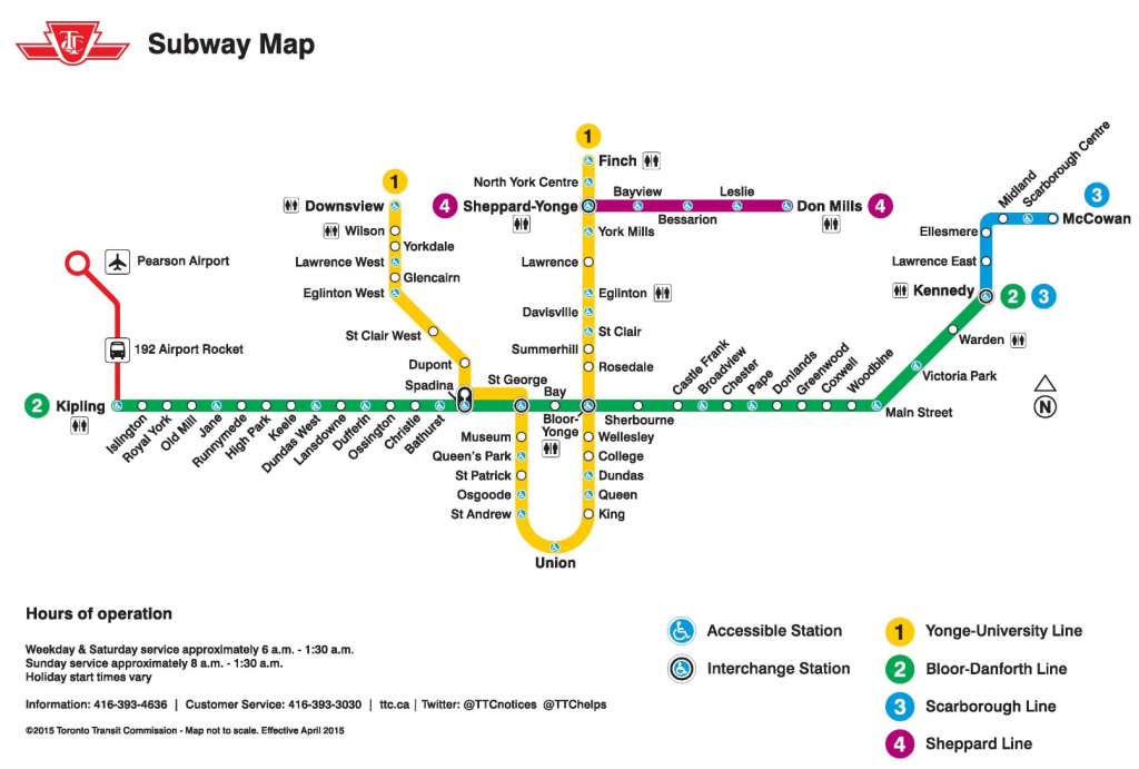 Toronto Subway Map in Toronto Subway Map Printable