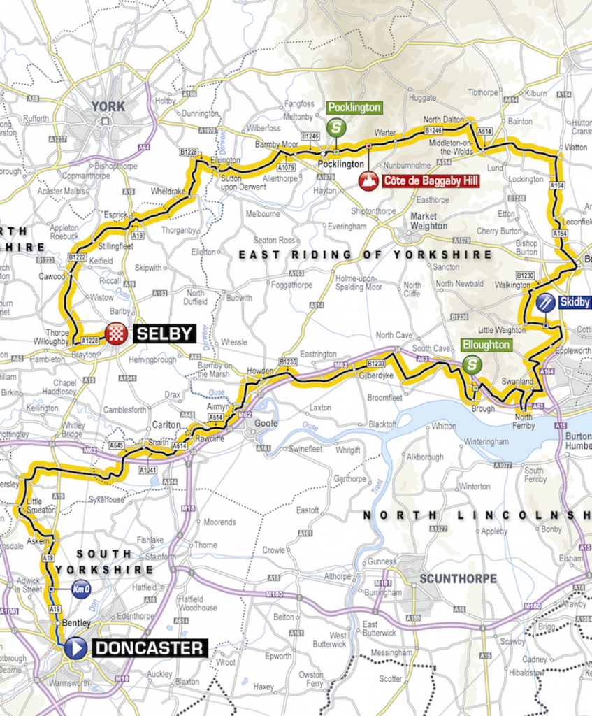 Tour De Yorkshire Route 2019: Maps And Profiles Of Every Stage throughout Printable Street Map Of Harrogate Town Centre