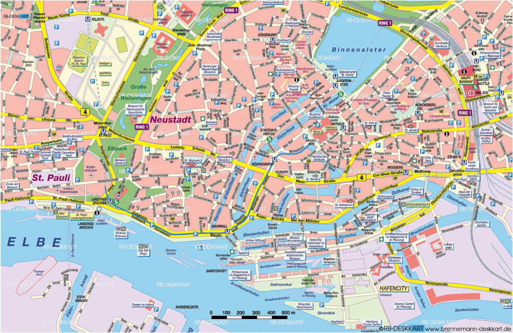 Tourist Map Hamburg | City Maps throughout Printable Map Of Hamburg