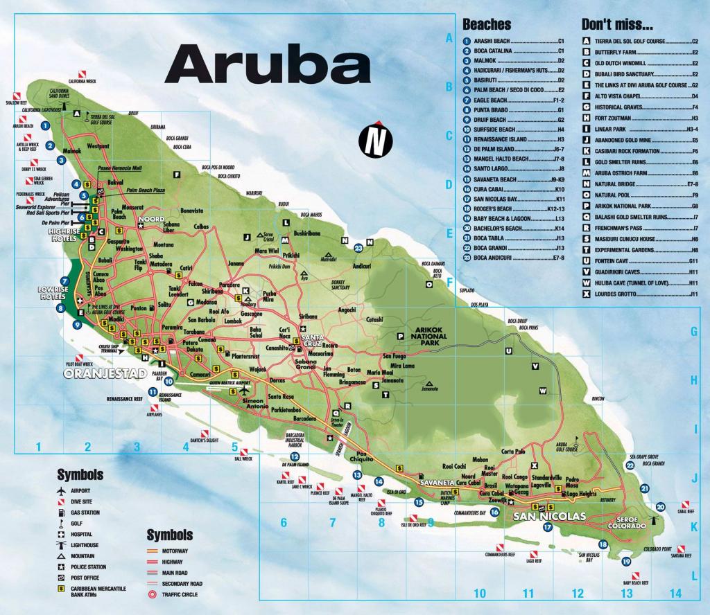 Tourist Map Of Aruba. Aruba Tourist Map. | Travel In 2019 | Aruba with Printable Map Of Aruba