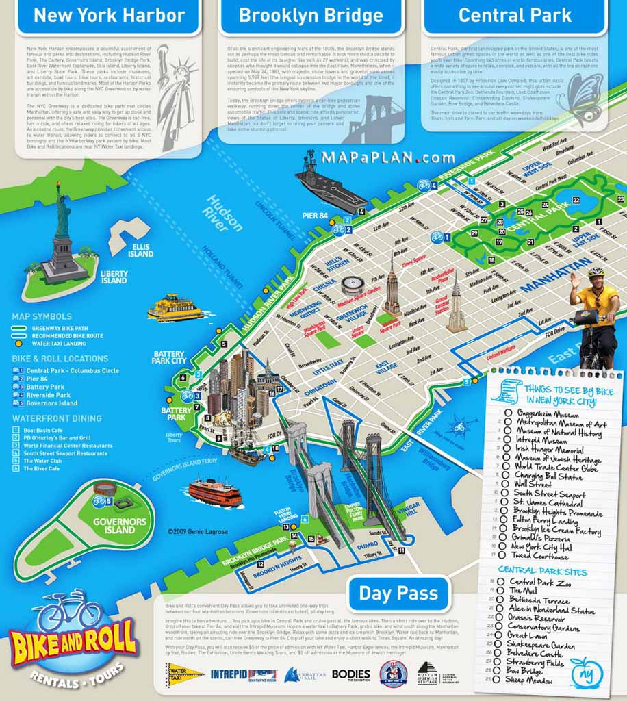 Tourist Map Of New York City Printable Download Map Nyc Tourist in Map Of Nyc Attractions Printable