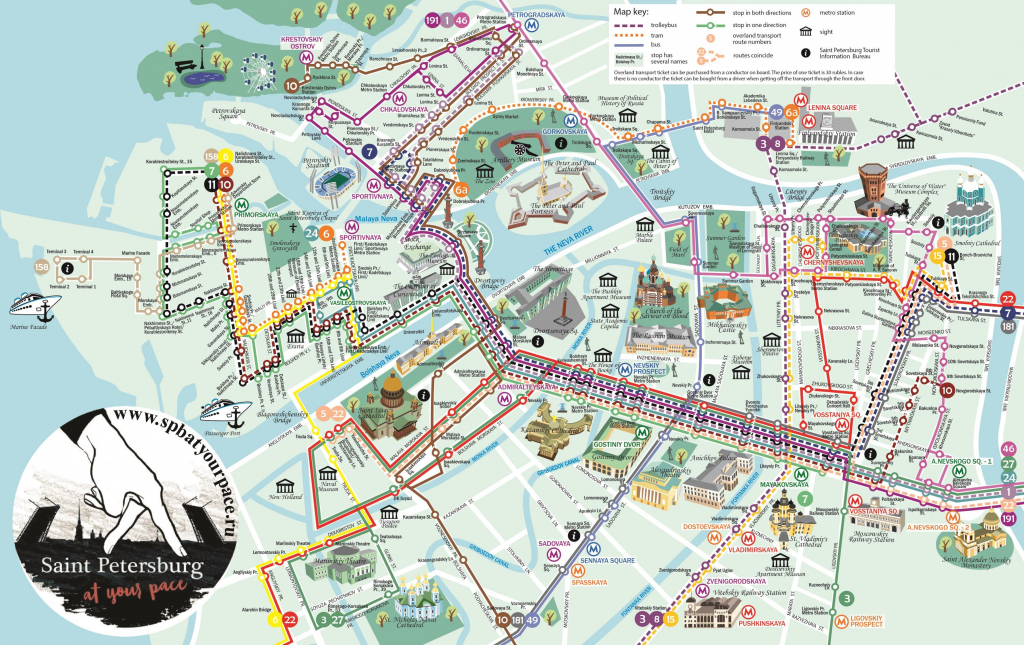 Tourist Map Of St Petersburg Russia - Saint Petersburg Tourist Map with regard to Printable Map Of St Petersburg Russia