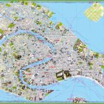 Tourist Map Of Venice City Centre Throughout Venice City Map Printable