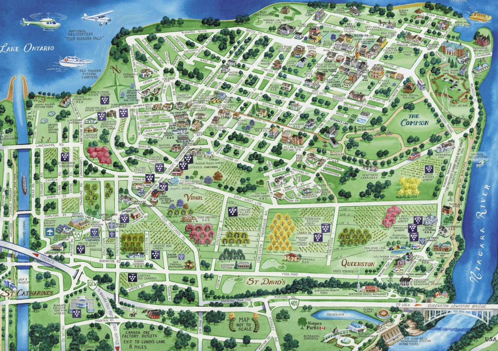 Town Map Of Niagara-On-The-Lake | Niagara On The Lake | Tourist Map in Printable Map Of Niagara On The Lake