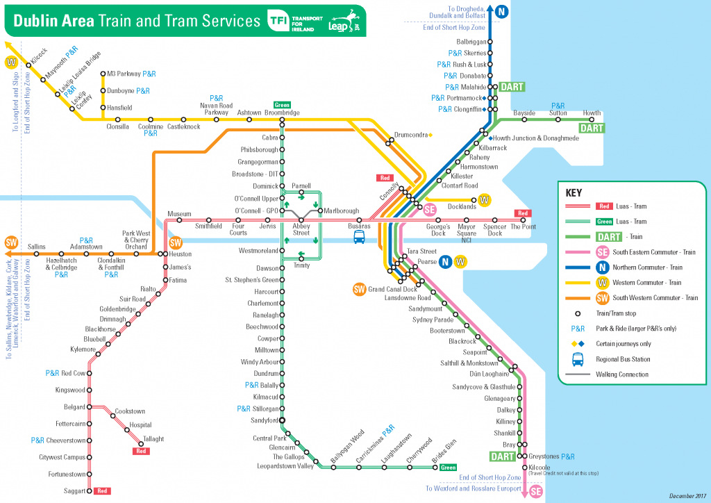 Transport For Ireland - Maps Of Public Transport Services - for Cork City Map Printable