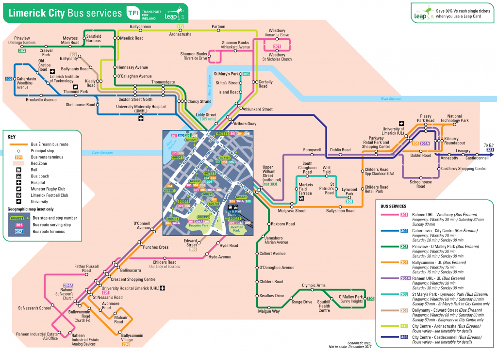 Transport For Ireland - Maps Of Public Transport Services - pertaining to Cork City Map Printable