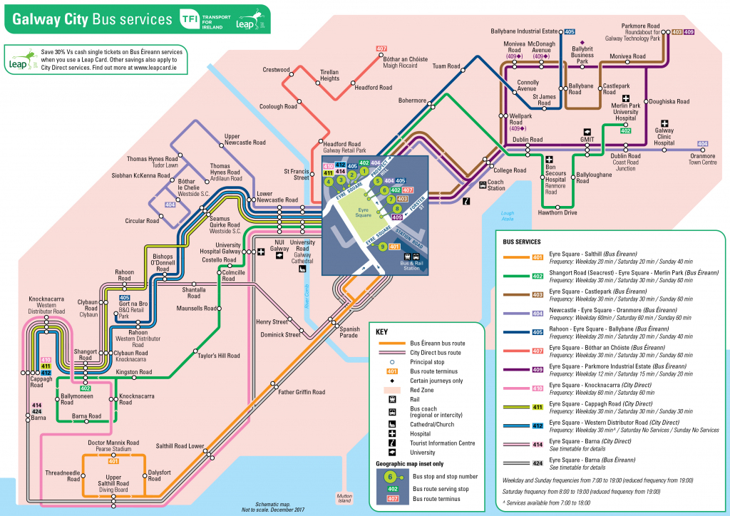Transport For Ireland - Maps Of Public Transport Services - pertaining to Galway City Map Printable