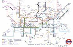 London Underground Map Printable A4