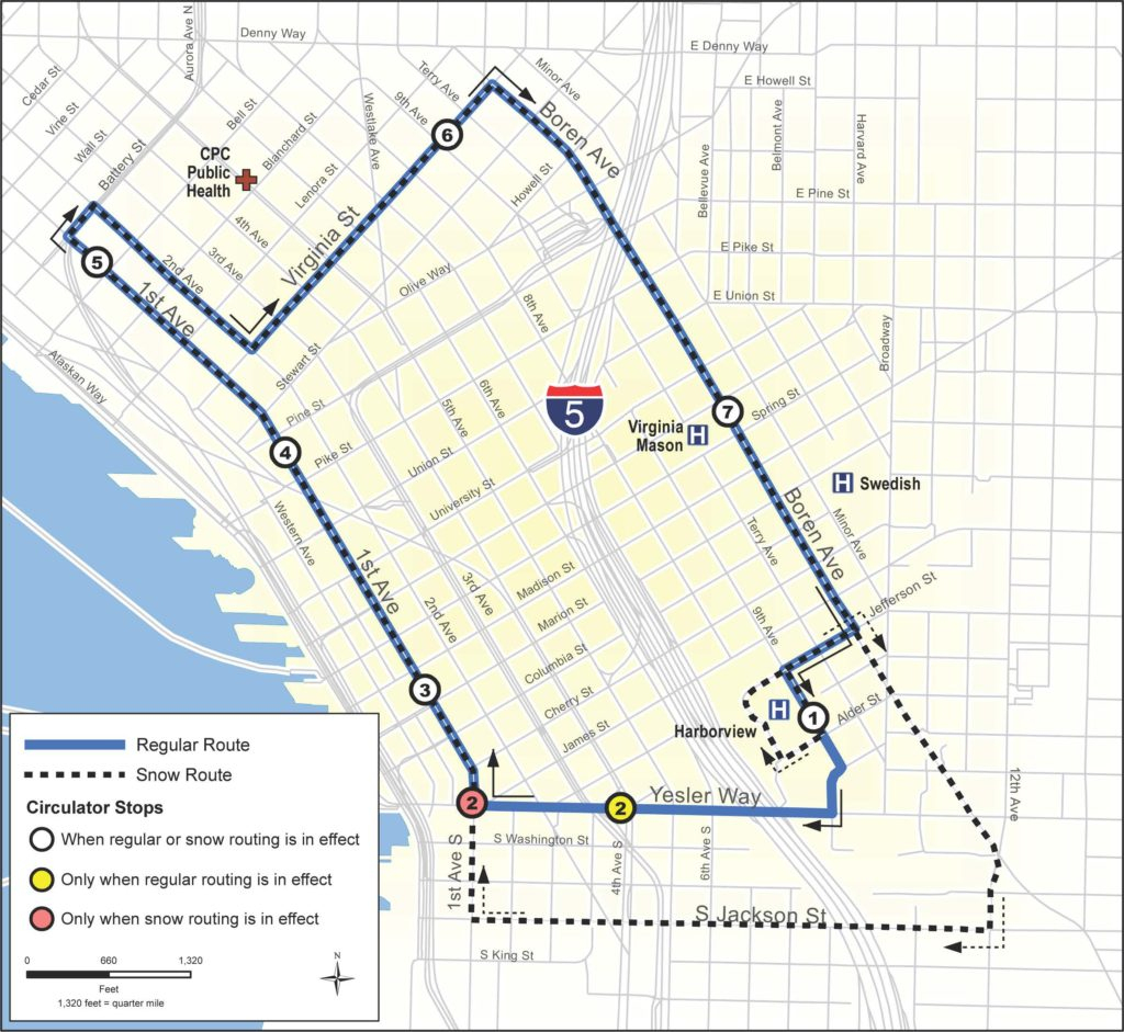 Transportation with Printable Map Of Downtown Seattle