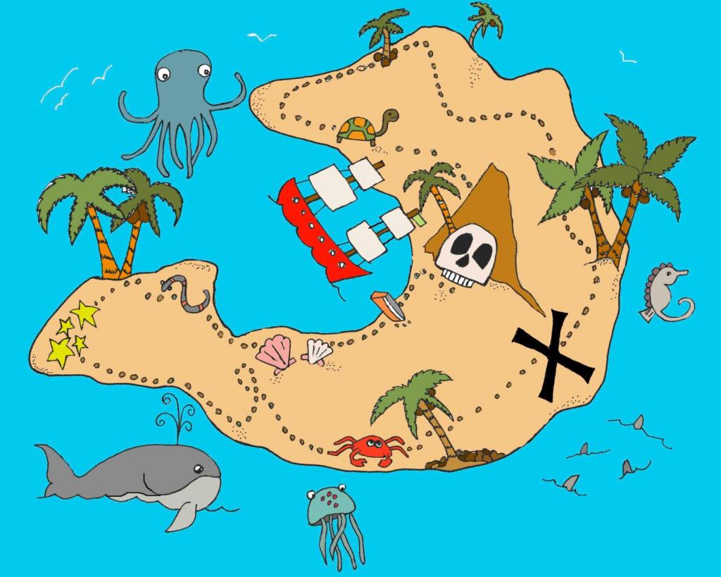 Treasure Map | Baby | Treasure Maps For Kids, Pirate Maps, Treasure Maps for Children's Treasure Map Printable
