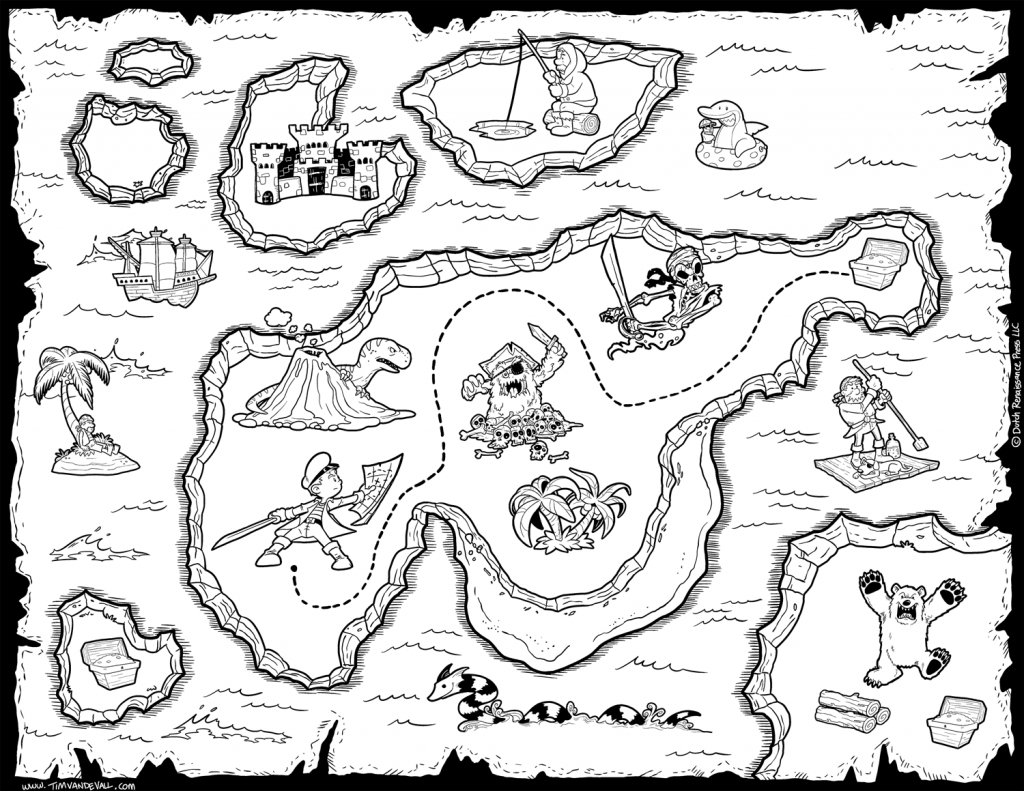 Treasure Map Black And White | Letter X | Pirate Treasure Maps for Free Printable Pirate Maps