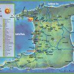 Trinidad Tourist Map Within Printable Map Of Trinidad And Tobago