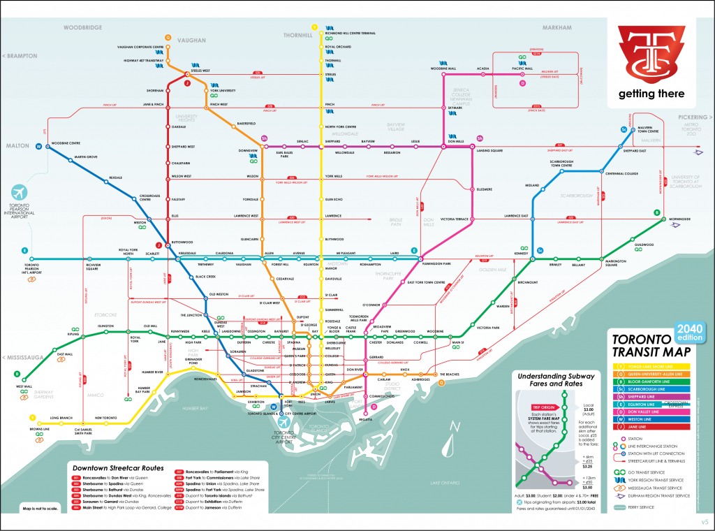 Ttc 2040 Map | Transit | Map, Subway Map, Toronto Subway regarding Toronto Subway Map Printable