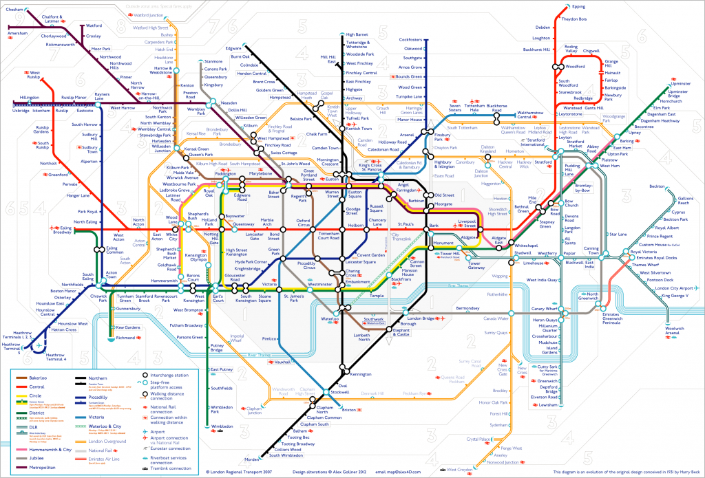 Tube Map | Alex4D Old Blog - Printable London Underground Map for Printable Tube Map