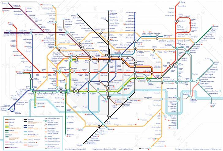 Central London Tube Map Printable