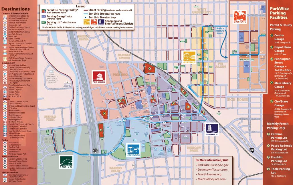 Tucson Maps | Arizona, U.s. | Maps Of Tucson in Printable Map Of Tucson Az