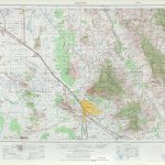Tucson Topographic Maps, Az   Usgs Topo Quad 32110A1 At 1:250,000 Scale Within Printable Map Of Tucson Az