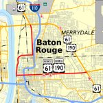 U.s. Route 61/190 Business   Wikipedia Within Printable Map Of Baton Rouge