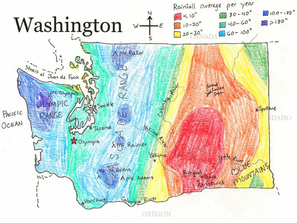 U.s. State Maps | State Studies | Washington State Map, Washington intended for Printable Map Of Washington State