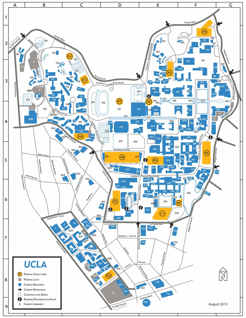 Ucla Campus Map - Kontempoart regarding Uf Campus Map Printable