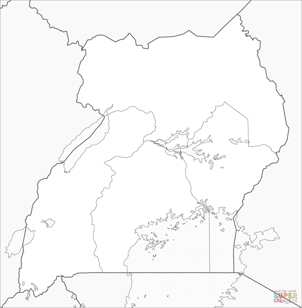 Uganda Map Coloring Page | Free Printable Coloring Pages inside Printable Map Of Uganda