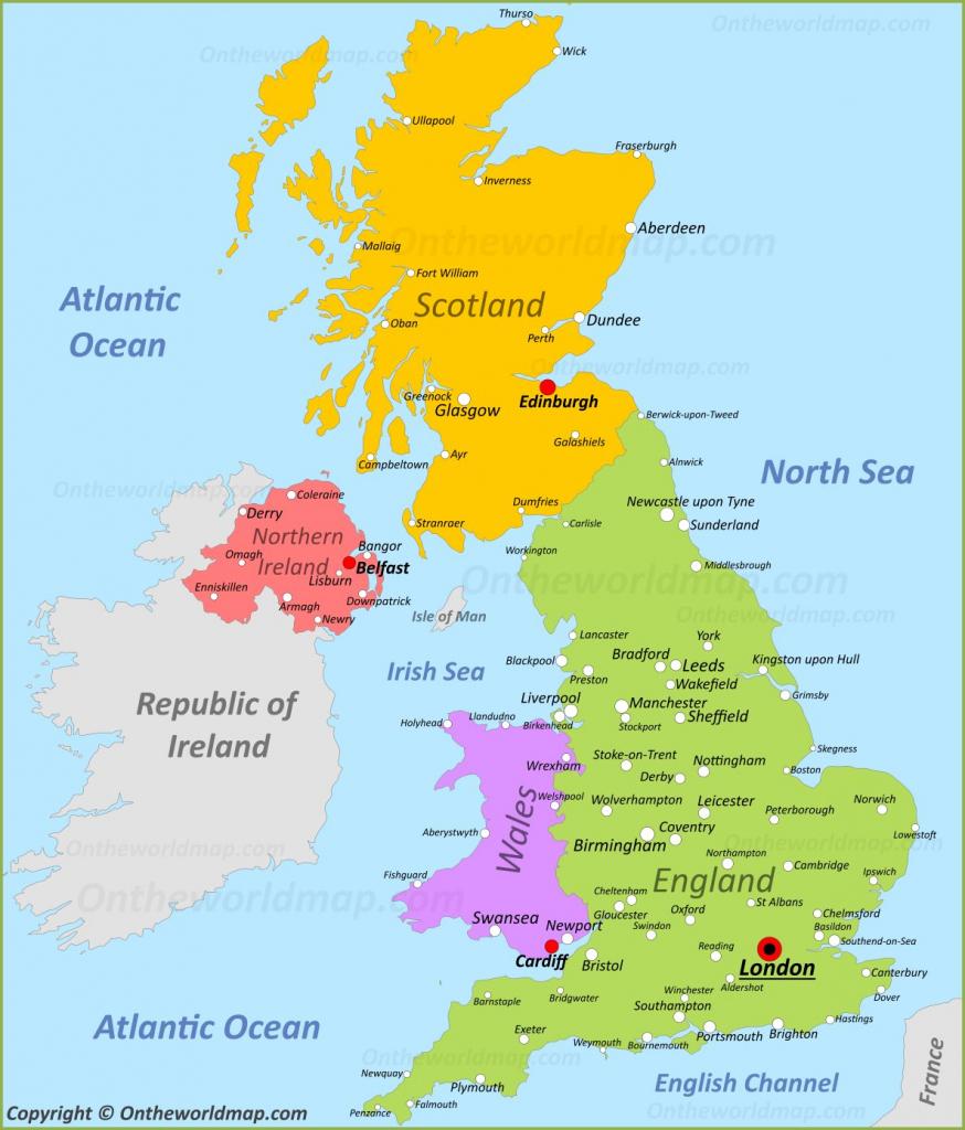 Uk Maps | Maps Of United Kingdom pertaining to Printable Map Of England And Scotland